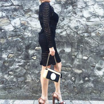DRAMMATIC LOVE| Black Crochet Dress