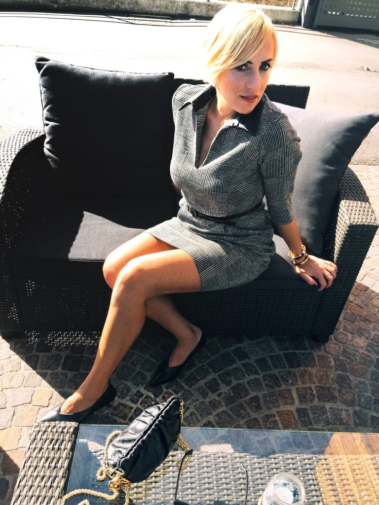 SANDRO FERRONE MONOCROME DRESS