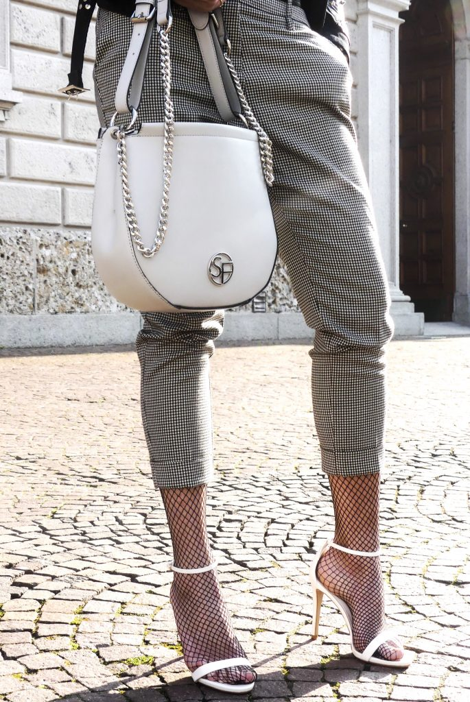 sandro ferrone pants and bag