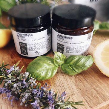Basilico & Bergamotto | Scrub e crema corpo BIO